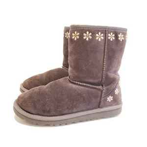 UGG Big Kids' Classic Embroidery Boots: Raspberry